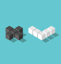 isometric no yes cubes vector image