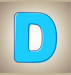 Letter d sign design template element sky vector