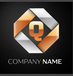 letter q logo symbol in the colorful rhombus on vector image
