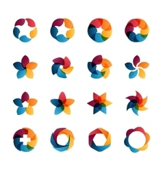 logo templates set vector image