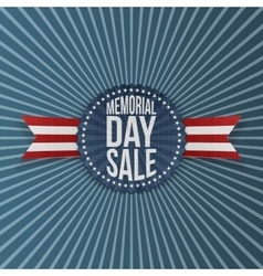 Memorial Day Sale festive Banner with Text vector image