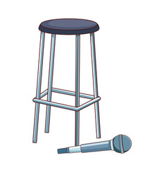 microphone and bar stool flat design vector image