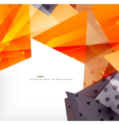 Modern 3d glossy overlapping triangles vector image