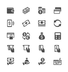 money glyph icons vector image vector image