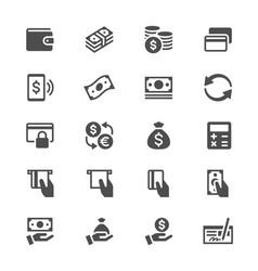 money glyph icons vector image
