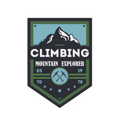 Mountain explorer vintage isolated badge vector