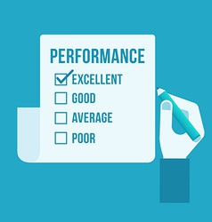 Performance evaluation form vector image