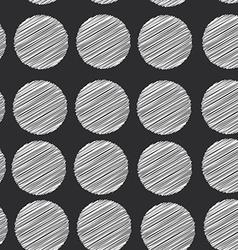 Polka dot background seamless pattern scribble dot vector
