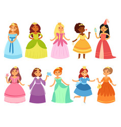 princess little girl character in beautiful vector image