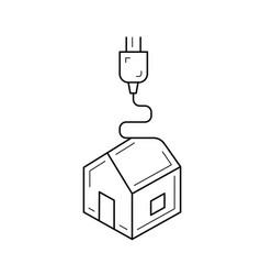 Printing process line icon vector