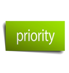 Priority square paper sign isolated on white vector