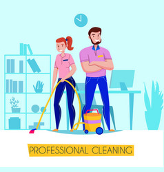 professional cleaning service poster vector image