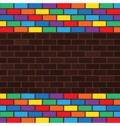 rainbow bricks vector image