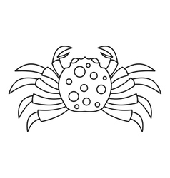 Raw crab icon outline style vector