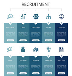 Recruitment infographic 10 steps ui designcareer vector