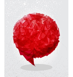 Red social bubble shape vector image