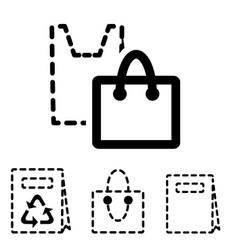shopping bag icons vector image
