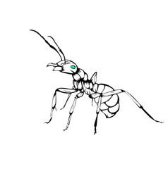 Sketch ants vector