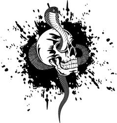 Skull and snake vector