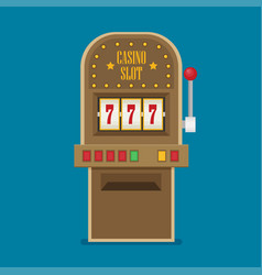 slot machine in flat style vector image