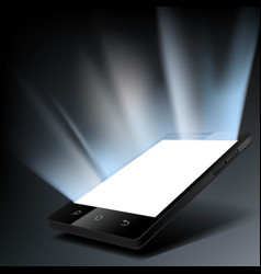 smartphone with a white glowing screen vector image