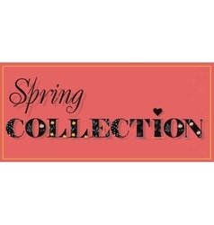 Spring Collection Black Floral Letters vector