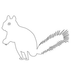 squirrel outline icon eps vector image