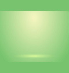 Studio room green lihjt background with lighting vector