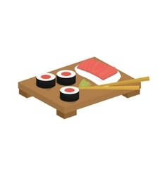 Sushi japan gastronomy vector image