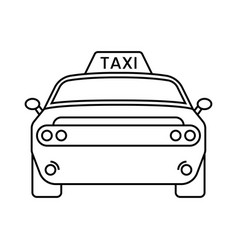 Taxi cabs line art icon for apps or website vector
