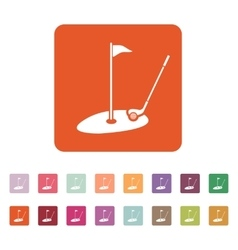 The golf icon Sport symbol Flat vector image