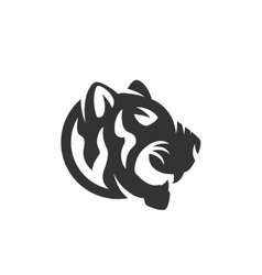 Tiger logo on white background vector image