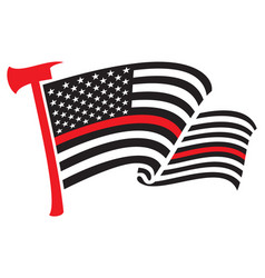 united states america thin red line flag vector image