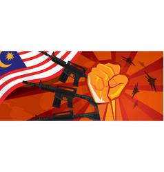 Usa america war propaganda hand fist strike with vector