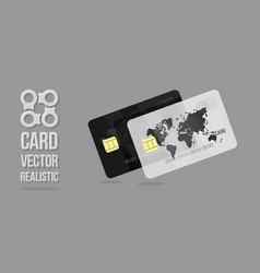 white and black credit cards template web banner vector image