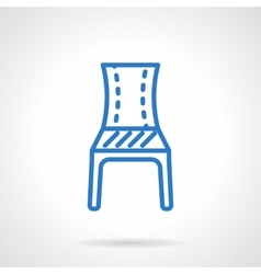 Blue chair line icon vector image vector image