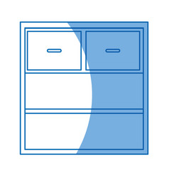 cabinet drawers empty furniture design vector image vector image