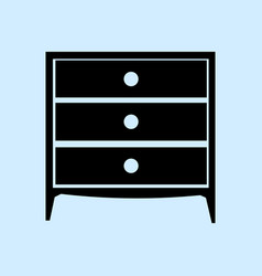 chest of drawers icon furniture types vector image vector image