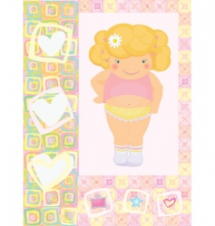 cute card for baby girl vector image vector image