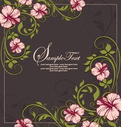 elegant vintage floral invitation card vector image vector image