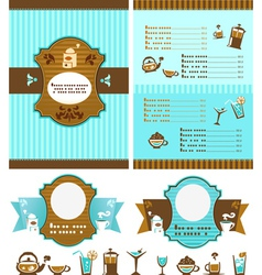 Menu for cafe vector image