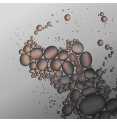 oil drops in the gray water background vector image vector image