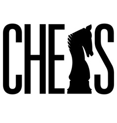 silhouette sport chess text vector image