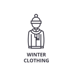 winter clothing line icon outline sign linear vector image vector image