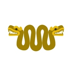 Aztec snake with two heads icon flat style vector image