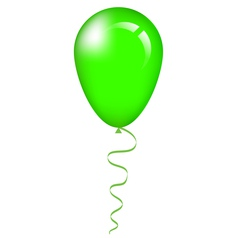 green balloon vector image vector image