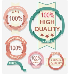 High Quality labels vector image vector image