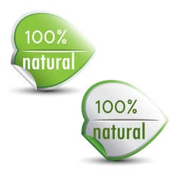 Natural stickers vector image vector image