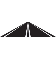 Perspective of road vector image vector image