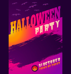 vintage card for halloween party vector image